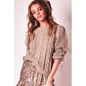 LoveShackFancy Cabeled Rosie Sweater. Retail- $325